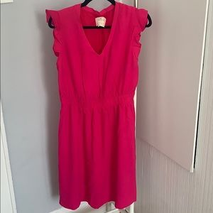 Kate Spade hot pink flutter sleeve dress